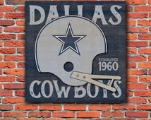 Dallas Cowboys Helmet Wood Sign - Perfect Father's Day - Perfect Dad Gift - Man Art - Football Fan - Sports Bar - Mancave