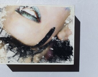 Alter Egos - Glamour #2 OOAK Acrylic Photographic Image Transfer - Small