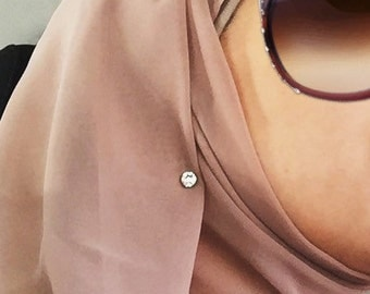 Magnetic Crystal Scarf / Hijab Pin (small)