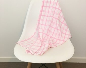 Pink Girls Muslin Swaddle Wrap/Blanket