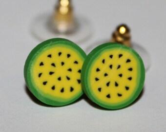 Kawaii Yellow Melon Studs