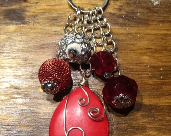 Red charm necklace
