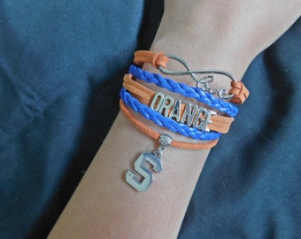 Syracuse Orange Wrap Bracelet
