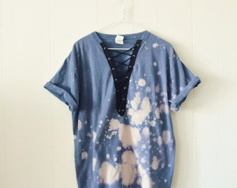 Vintage Lace Up Tee