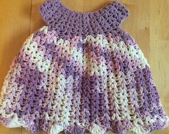 Purple cotton crocheted cotton dress