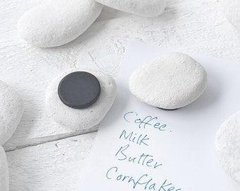 White Pebble, Coastal Fridge Magnet. To grace any kitchen. (UK Shipping Included)
