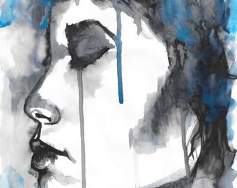 Blue n Black Face
