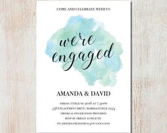 We're engaged invitation- DIGITAL FILE