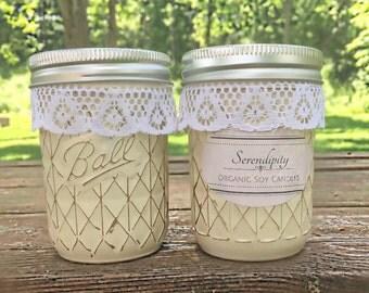 Rustic Herbal Vanilla Organic Soy Candle