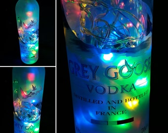 Grey Goose Vodka Multi coloured LED Bottle lamp