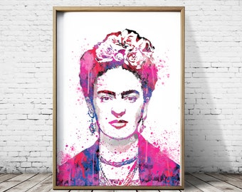 Frida Kahlo Art Frida Kahlo Print  Watercolor Prints Printable Art Printable Artwork