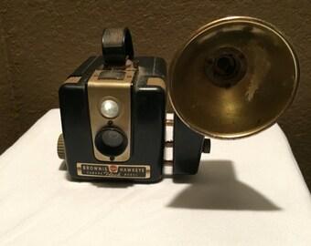 Vintage 1950s Kodak Brownie Hawkeye Camera