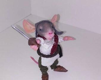 Mouse hero art doll