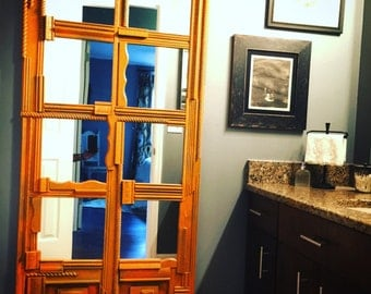 Handcrafted wood framed mirrors