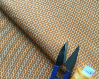 Rusty Orange Geometric cotton fabric