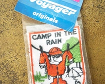 Voyager Originals Patch Badge 'Camp In Rain' Camping 'Save Washing' lmh