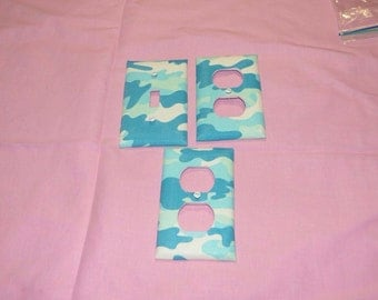 Blue Camo LightSwitch & Outlet Set