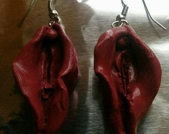 Vulva Earrings DARK PURPLE/DIVINE