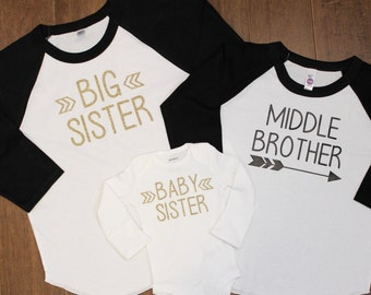 Big Sister Shirt, Big Brother Shirt, Little Brother, Big Brother, Biggest Brother, Middle Brother, Little Brother, New Baby, Pregnancy