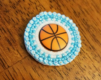UNC Chapel Hill basketball Native American beaded jewelry set
