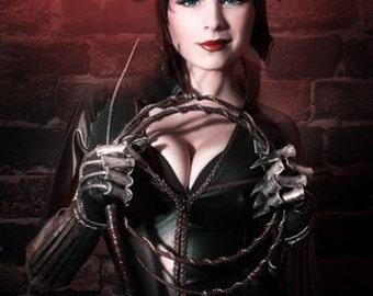 Catwoman cosplay, dc comix, print 20cm X 30 cm