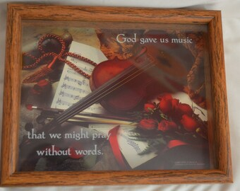 God Gave Us Music So That We Might Pray Without Words Shadow Box