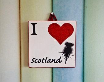 I Love Scotland canvas