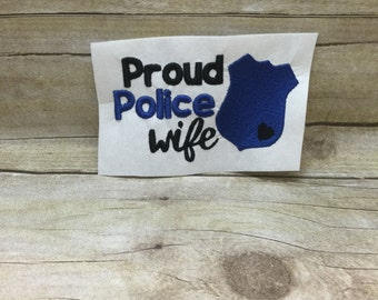 Proud Police Wife Embroidery Design