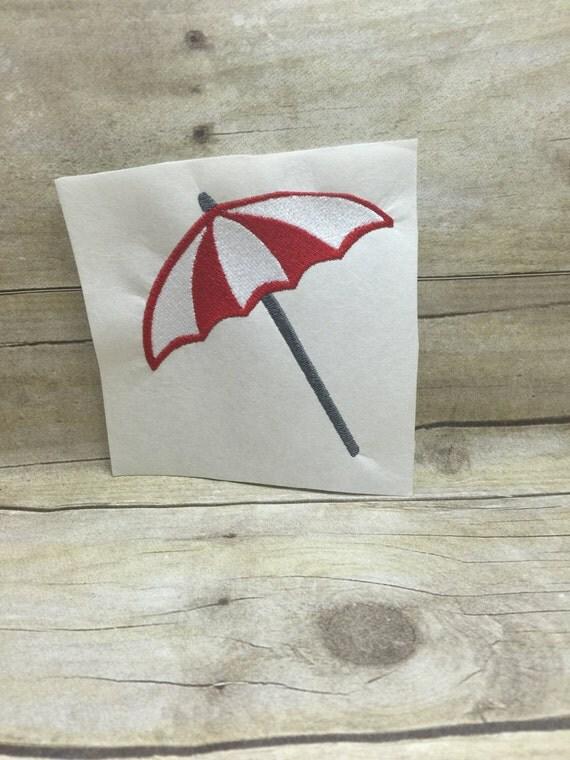 Umbrella embroidery design beach