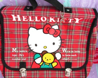 30%OFF! -1989 Vintage Sanrio Hello Kitty Plaid Bag