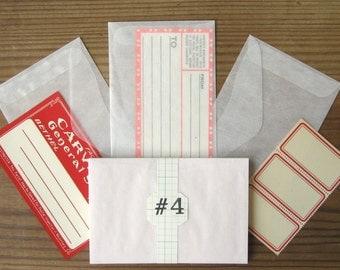 "Glassine Envelopes Size 4 Medium Translucent Paper New 4-7/8x3-1/4"" (25)"