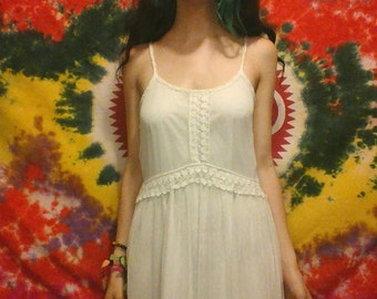 Crocet and Lace Maxi Dress