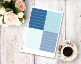 Planner Stickers for the vertical Erin Condren Life Planner - Blanc headers in blue