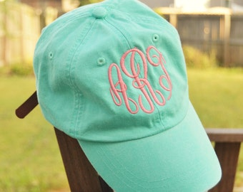Monogrammed hat, Monogrammed baseball cap, Monogrammed Cotton Cap, Womens Hat, Monogram cap, Gifts for women