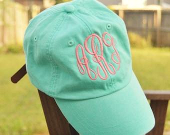 Monogrammed hat, Monogrammed baseball cap, Monogrammed Cotton Cap, Womens Hat, Monogram cap, Gifts for women