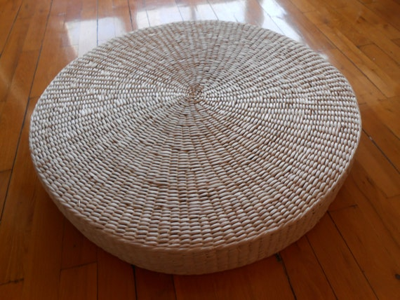 Rustic floor cushion/natural grass mat/straw
