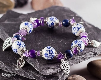 Handmade bracelet with gemstones