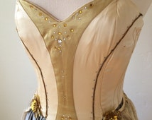 Vintage theatrical costume gown fairy fantasy halloween corset top XS/S