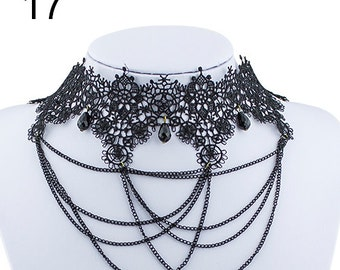 Chandelier Style Victorian Gothic Choker