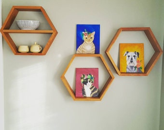 Wood Honeycomb Shelves