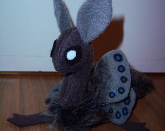 Moth Dragon Ash Grey Plush