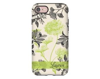 Botanicals iPhone 7 case, floral iPhone 7 Plus case, iphone SE/6s/6s Plus/6/6 Plus/5s/5 cases, personalized iphone case, 3D wrap around