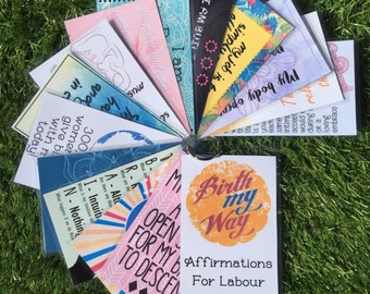 5 Pack Doula/Midwife Customised Affirmations For Labour Postcards, Doula Cards, Midwife Cards, Birth Cards