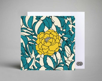 Floral Yellow Notecard