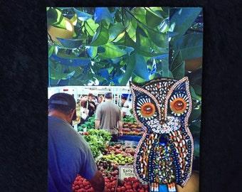 Wooden Owl At Temescal Farmer's Market