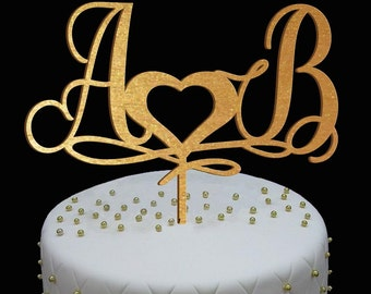 Wedding Cake Toper, Wedding cake - Monogramm Personilized cake Wedding Monnogram