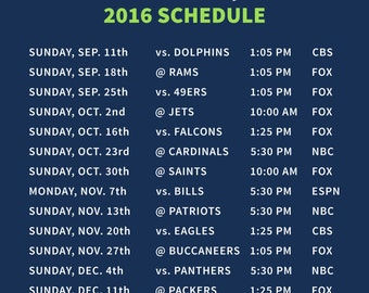 Seahawks magnetic schedule