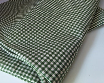 Fabric Madrid New Green check cotton fabric by the yard Magnolia Home Fashions  Cotton 1 yard