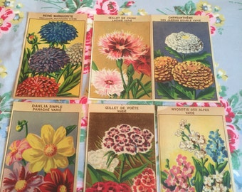 French vintage seed packet labels