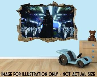 Star Wars Darth Vadar 3D Effect Graphic Wall Vinyl Sticker Decal